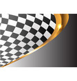 checkered gold line curve gray gradient sport race vector image vector image