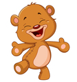 cheerful teddy bear vector image vector image