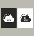 cloud computing - icon vector image