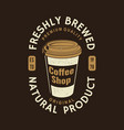 coffee logo badge template vector image