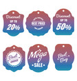 colorful discount and sale labels vector image vector image