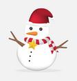 cute christmas snowman vector image