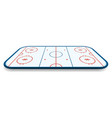 detailed of a icehockey rink field court with vector image vector image