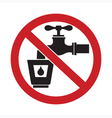 Do Not Drink Water Sign vector image vector image