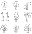 Doodle of tree unique hand draw vector image vector image