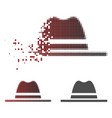 dust dot halftone hat icon vector image vector image