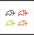 elephant logo line art vector image vector image
