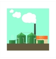 Factory With Sylos Outside vector image