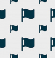 flag icon sign Seamless pattern with geometric vector image
