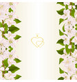 floral vertical border seamless background vector image