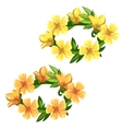 Floral wreath of bright yellow flowers vector image vector image