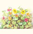 flower garden poster vector image vector image