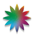 flower sign colorful icon with bright vector image