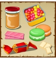 Great set of sweets for any occasion vector image vector image