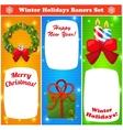 Greeting Christmas and New Year baners set vector image
