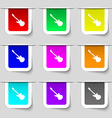 Guitar icon sign Set of multicolored modern labels vector image vector image