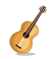 guitar instrument isolated icon design vector image vector image