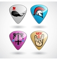 Guitar picks or plectrums with custom designs vector image vector image