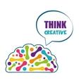 Human organ Brain and bubble icon vector image vector image