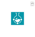laboratory share logo template icon element vector image vector image