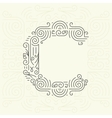 Letter C Golden Monogram Design element vector image vector image