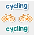 logo cycling on a light background vector image vector image