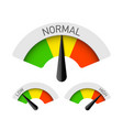 low normal and high gauges vector image vector image