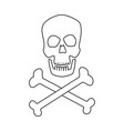 medical skull bones crossed human danger concept vector image vector image