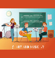 music lesson cartoon vector image