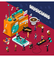 Musicians People Isometric Composition vector image vector image