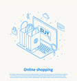 online shopping thin line design eps 10 vector image