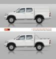pickup truck mock-up vector image vector image