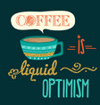 retro background with coffee quote and golden vector image vector image