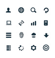 set of app icons vector image vector image