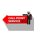 signboard call point service vector image