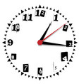 simple black and white thirty-thirty edition clock vector image vector image