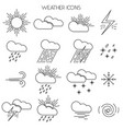 simple line weather icons vector image