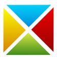 simple segmented multicolor square colorful vector image