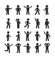 stick man gestures and movement set simple poses vector image