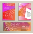 Template brochure and banner with abstract