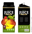 Template Packaging Design Mango Juice vector image vector image