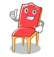thumbs up chair character cartoon collection vector image