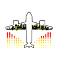 Travel by plane vector image vector image
