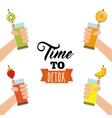 Tropical Detox icon Smoothie and Juice design vector image vector image