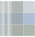 Waves seamless patterns set vector image