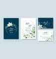 wedding invitation card save date thank you vector image vector image