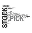 why most stock pick service fails text word cloud vector image vector image