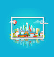 with cityscape travel concept vector image vector image