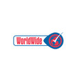 world-wide-logo vector image vector image