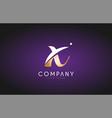 x alphabet letter gold golden logo icon design vector image vector image